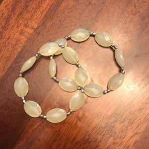 Yellow Beaded Bracelets